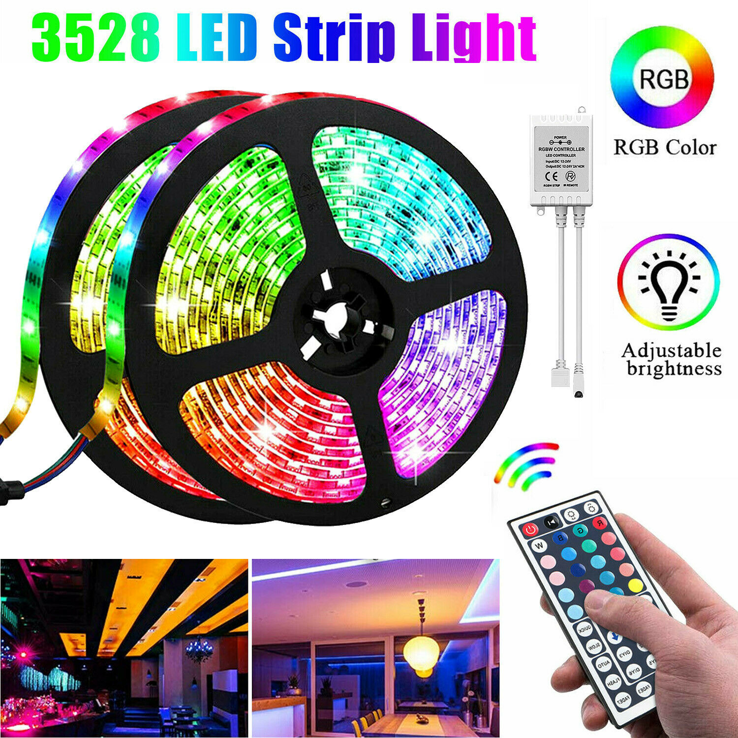 smd-3528-dc12v-led-strip-light-rgb-flexible-tape-ribbon-lamp-with-remote-control