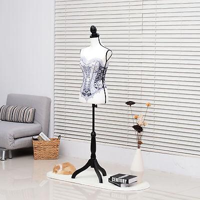 Homcom Adjustable Female Dress Form Mannequin Torso Clothes Display Base White