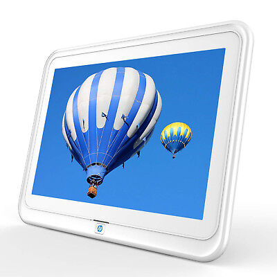 """HP 10.1"""" WiFi Digital Photo Frame with HD Display support iPhone & Android App"""