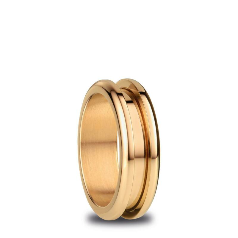 BERING+Arctic+Symphony+Size+55+17.4mm+Diameter+Polished+Gold+Ring+526-20-73
