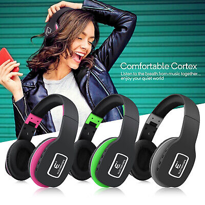 Bluetooth Headset Wireless Earphone Music Stereo Headphones Noise Cancellation