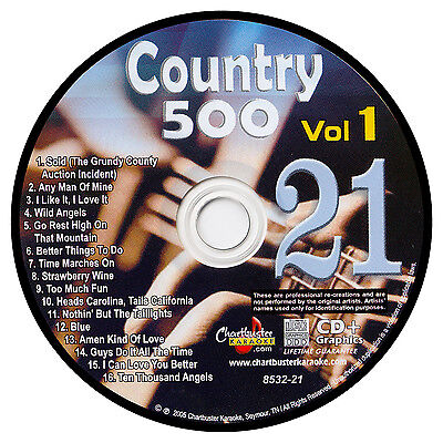Karaoke Chartbuster Cd G Country 500 Cb8532 Vol 1 Disc   21