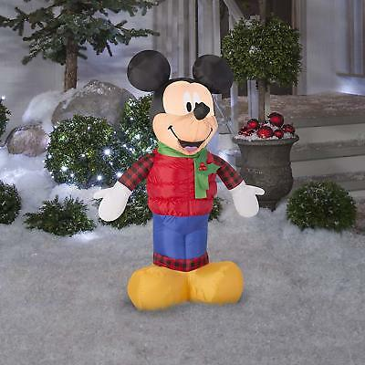 Gemmy Industries Airblown Disney Mickey Mouse w/ Christmas Outfit Inflatable