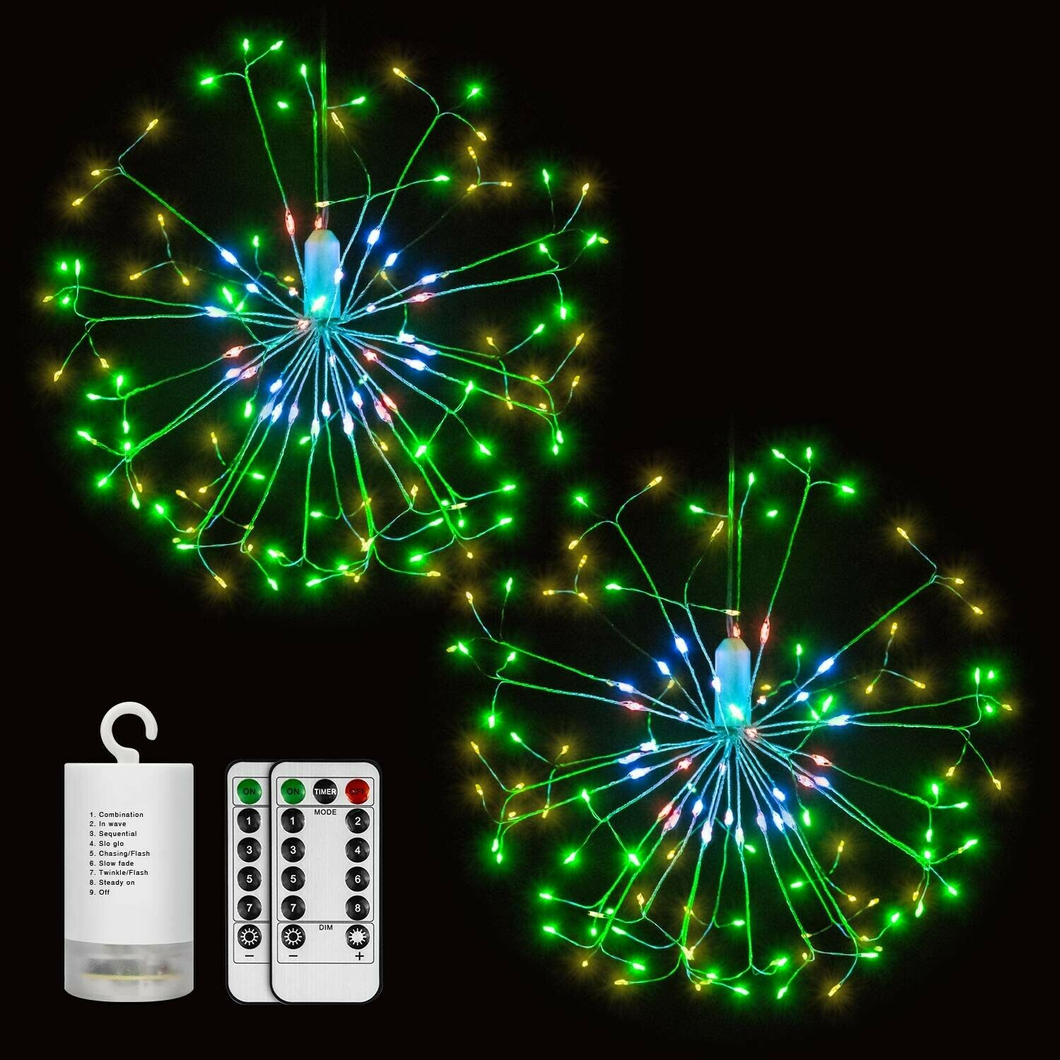 DIGITBLUE Fairy Lights: Battery Operated 2 Pack Outdoor Wate