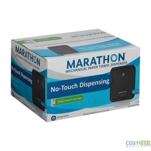 """Marathon Mechanical Paper Towel Dispenser Black 16.100"""" W x 8.900"""" D x 12.900"""" H"""