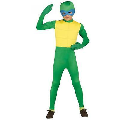 Boys Green Turtle Ninja Fancy Dress Costume Childrens Book Day Outfit Idea