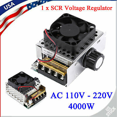 Ac 110v 4000w Scr Electronic Voltage Regulator Motor Speed Controller With Fan