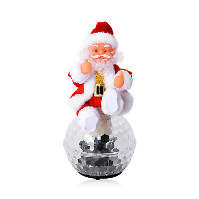 Electric Santa Claus with Disco Ball and LED Lights Toy Batteries Not