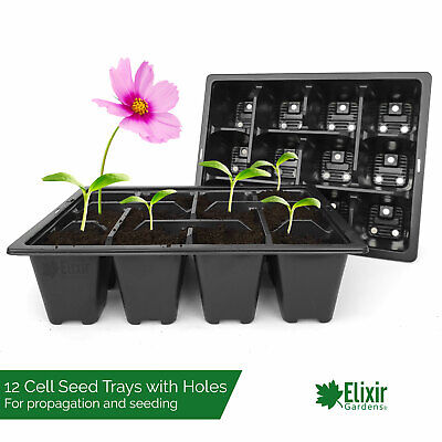 400 x 12 Cell Bedding Plant Pack Tray Inserts for Half Size Seed Trays