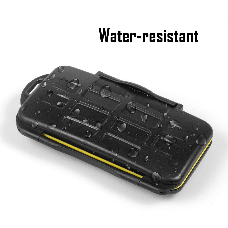 Water-Resistant Memory Micro SD Card Case Storage Holder 24 Slot Set Waterproof