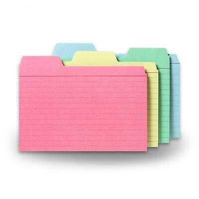 Find-it Tabbed Index Cards 4 X 6 Inches Assorted Colors 48-pack Ft07218