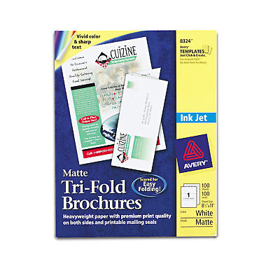 Avery Tri-fold Brochures For Inkjet Printers 8 12 X 11 White 100 Sheetsbox