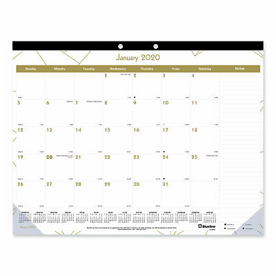 Blueline Gold Collection Monthly Desk Pad 22 x 17 2020 C1990