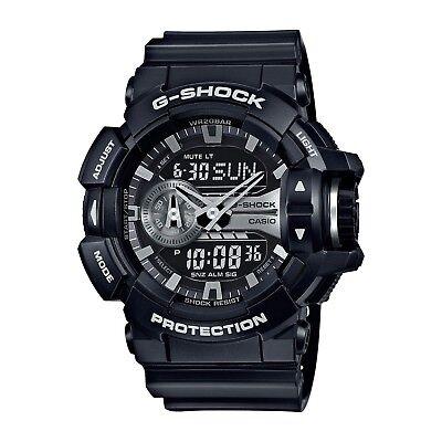 - Casio G-Shock Black and Silver-Tone Dial Resin Quartz Men's Watch GA400GB-1A