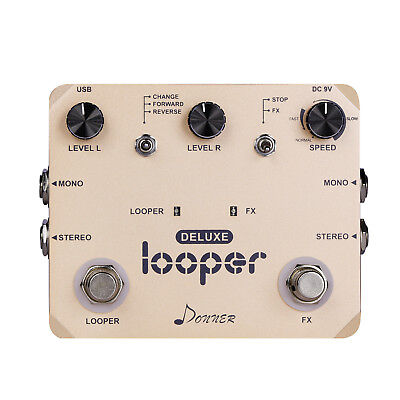 Donner Deluxe Looper Guitar Effect Pedal Loop Station Top Quality ()