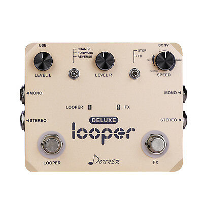 Donner Deluxe Looper Guitar Effect Pedal Loop Station Top Quality