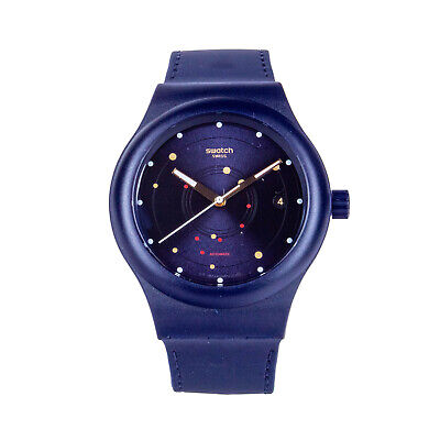 Swatch SISTEM SEA SUTN403 Automatic Unisex Blue Dial Dark Blue Band Watch