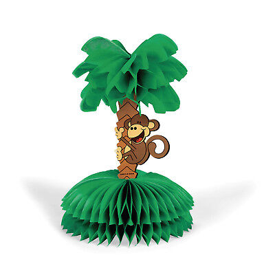Beach Monkey PALM Tree Centerpiece TABLE DECORATION Luau HAWAII SAFARI ZOO Party