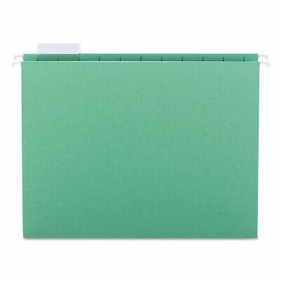 Smead Hanging File Folders 15 Tab 11 Point Stock Letter Bright Green 25box