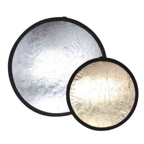 "32"" Photo Studio 5-in-1 Reflector Translucent White Gold Sunlight Silver"