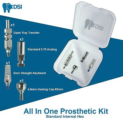 Dsi Dental Implant Prosthetic Kit Abutment Transfer Analog Healing Cap