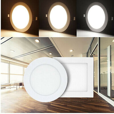 Unterputz-leuchte (Ultraslim LED Panel 6W-24W Leuchte Dimmbar Deckenleuchte Einbau Unterputz Lampe)