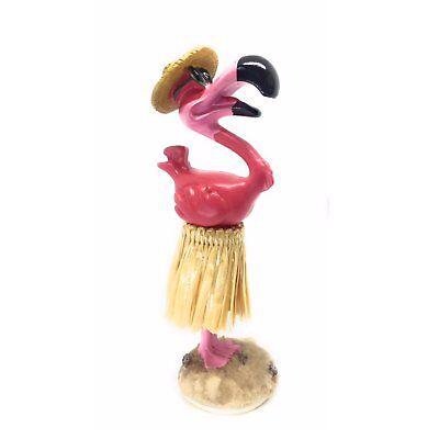 "Hawaiian Dashboard Pink Flamingo Hula Doll For Your Car - 4.3"""