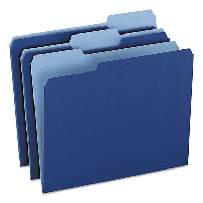 Pendaflex Colored File Folders 13 Cuttop Tab Letter Navy Bluelight Navy Blue