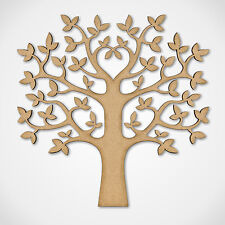 MDF Tree Shape  - Wooden Craft Blank - Wedding Guestbook Family Tree Crafting