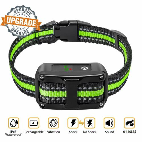 Anti Barking Collar Rechargeable Dog Shock Training Collar No Bark Waterproof