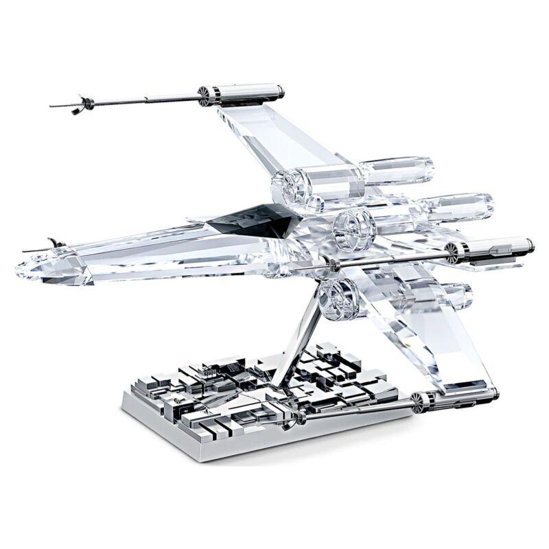 Swarovski Crystal X-Wing Starfighter Jet Plane Star Wars Mandalorian Figurine
