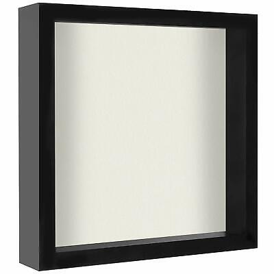 Americanflat 11x11 Shadow Box Frame, Black