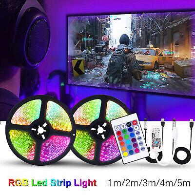 1M-5M LED Strip Lights 5050 RGB Colour TV Backlight USB Changing Remote Control