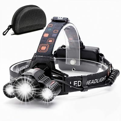 Headlamp,Brightest Waterproof,90ºMoving Zoomable Light,Best for Camping