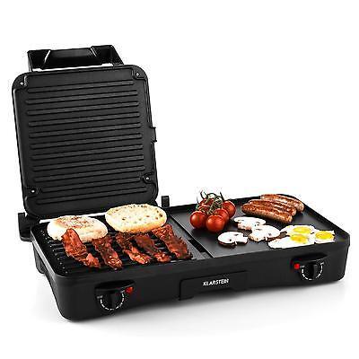 Elektro Grill 1500W Tischgrill Kontaktgrill Sandwich Toaster Panini  2 in 1