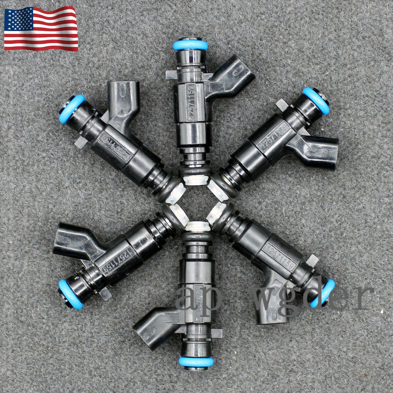 6x New Fuel Injectors For  04-08 Cadillac Buick 3.6L V6 0280156131 12571159 US