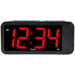75907 Equity by La Crosse Electric Quick-Set 1.8 Red LED Digital Alarm Clock