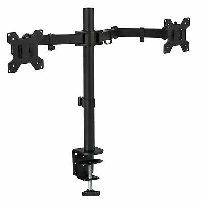 Mount-It! Dual Monitor Mount Full Motion Adjustable Arms Fits 17-27 Inch Screens