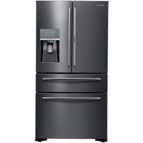 Samsung Black Stainless 22 French 4 Door Counter Depth Refrigerator Rf22kredbsg