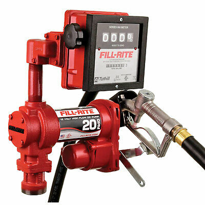 Fill-rite Fr4211g 12v Dc 20 Gpm High Flow Fuel Transfer Pump With Meter Package