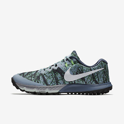 Mns Nike Air Zoom Terra Kiger 4 Sz 10 13 Blue Grey Green 880563 400 Free Ship