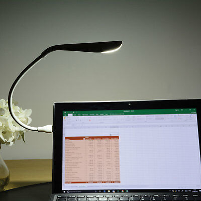White Flexible USB 14 LED Lamp Light Torch for Laptop Computer Mac Desk & Table