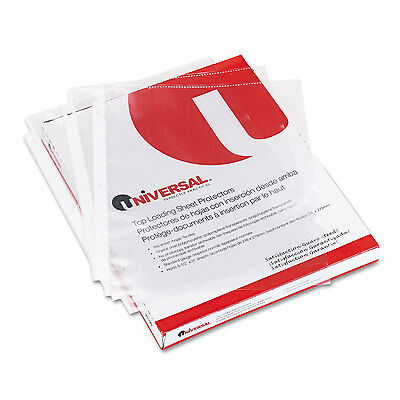 Universal Top-Load Poly Sheet Protectors Economy Letter 100/Box 21130