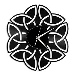 Celtic Knot Vinyl Wall Clock Unique Gift for Friends Home Room Decoration