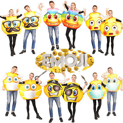 Unisex Adult Emoji Costume Funny Emoticon Halloween Party Cool Jumpsuit ](Cool Halloween Costumes Funny)