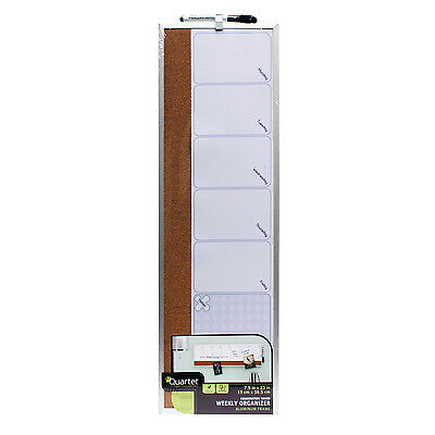 Quartet Calendar Combo Dry-Erase and Bulletin Board, 7 x 23 Inches (79221) (Bulletin Board Calendar)