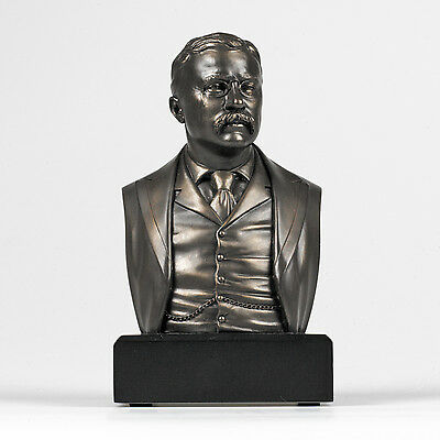 Theodore Roosevelt Bust Statue Sculpture GREAT AMERICANS - Holiday Gift!