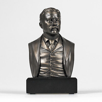 NO RESERVE - HISTORICAL President Theodore Roosevelt Bust Statue Sculpture
