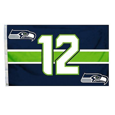 SEATTLE SEAHAWKS FLAG 3'X5' 12th MAN BANNER: FREE SHIPPING - Seahawks Banner