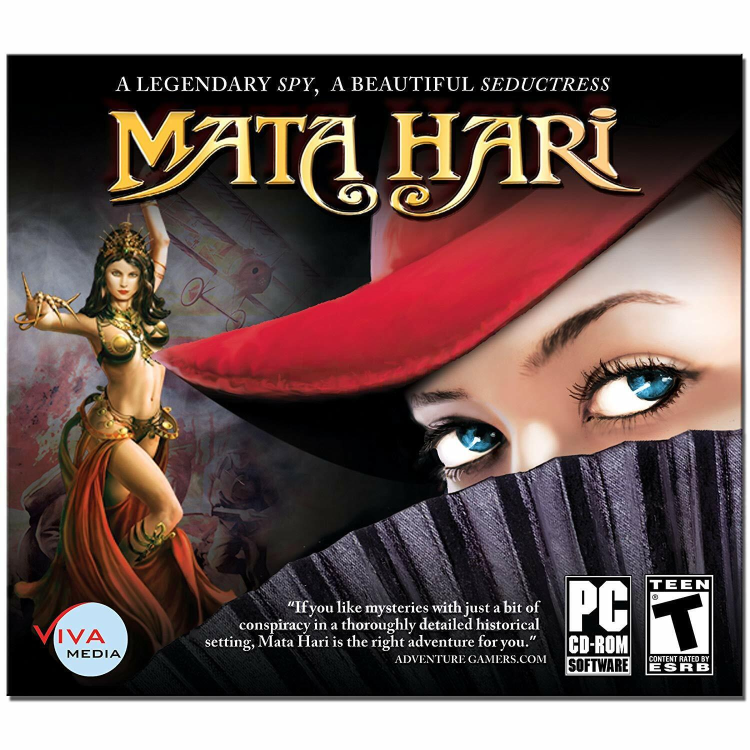 Computer Games - Mata Hari PC Games Windows 10 8 7 XP Computer point and click adventure NEW
